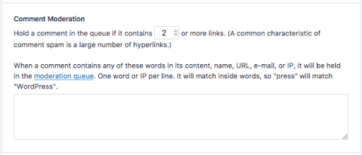Reduce the Number of Links Allowed in Posts