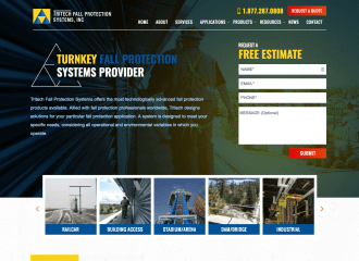 Tritech Fall Protection Systems Website Design