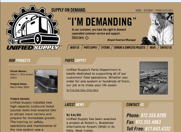 Unified Supply's old site