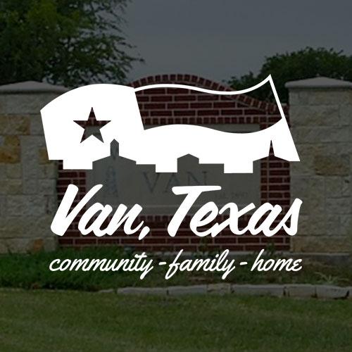 Van, Texas logo