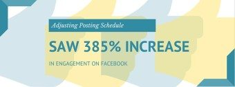 Case Study: Adjusting Posting Schedule Saw 385% Increase In Engagement