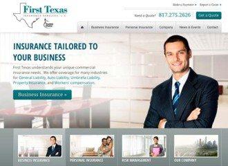 First Texas Insurance Web Design