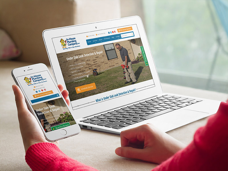 In-House Plumbing Company website preview