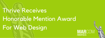 Thrive Receives Honorable Mention Award For Web Design