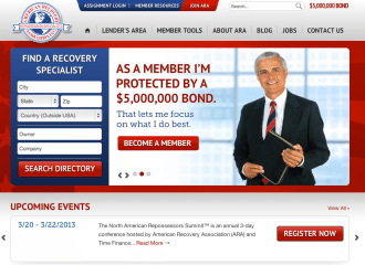 American Recovery Association Website Design