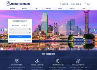 web design for banks