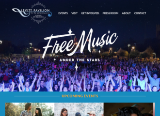 Levitt Pavilion in Arlington Website Design