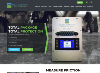 Regan Scientific Instruments Website Design