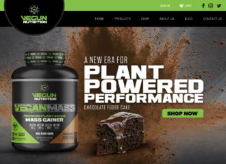 Vegun Nutrition Website Design