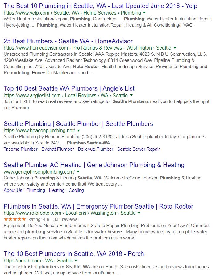 digital marketing plumbing company