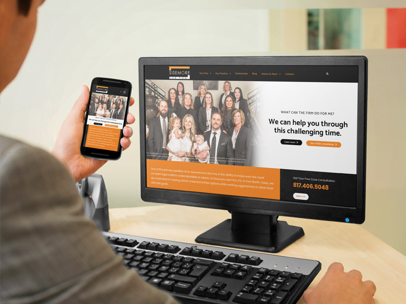 Sisemore Law Firm website preview