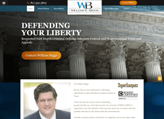 William R. Biggs, PLLC Website redesign