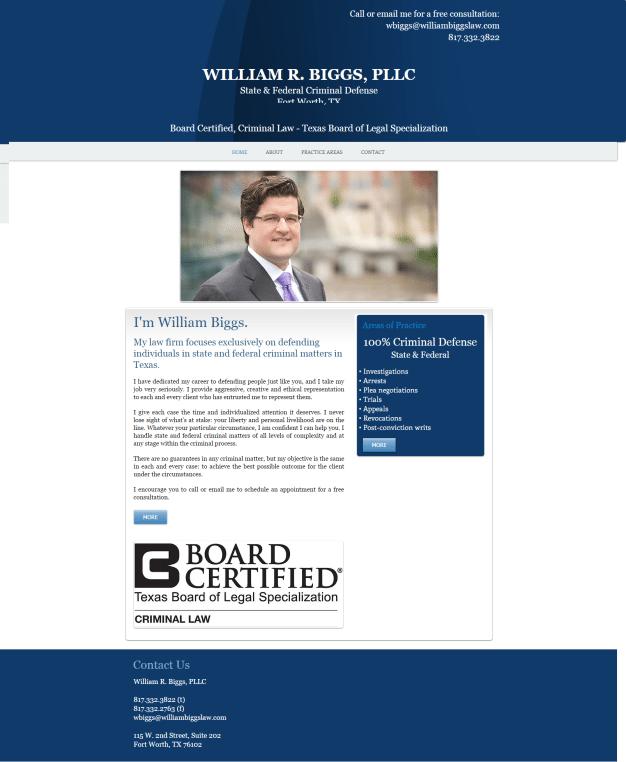 William Biggs Criminal Defense - Old Website
