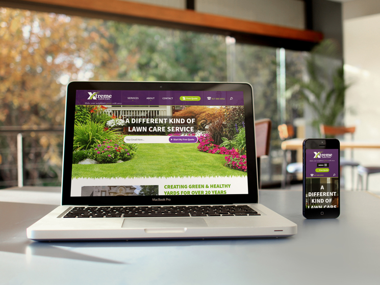 Xtreme Lawn Care website preview